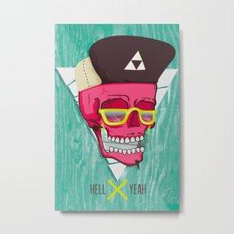 Hell Yeah Skull 2 Metal Print