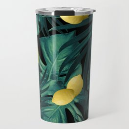 Tropical Lemon Twist Jungle Night #1 #tropical #decor #art #society6 Travel Mug