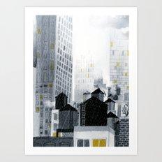 Rainy New York City Art Print