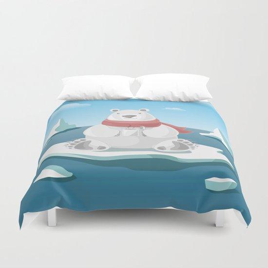 Polar breakfast Duvet Cover