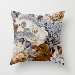 wintery floral Throw Pillow