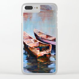 Two boats Clear iPhone Case
