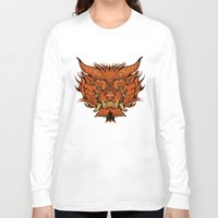 foo fighters Long Sleeve T-shirts featuring Foo Dog by missmonster