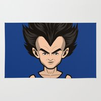 vegeta Area & Throw Rugs featuring Back to the childhood - Vegeta by Mathieu Marcou