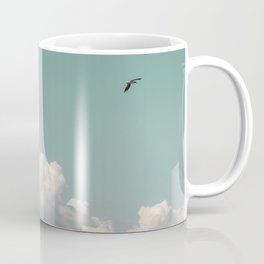 Mint Skies and White Fluffy Clouds #1 Coffee Mug