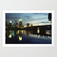 minneapolis Art Prints featuring Minneapolis by Tyler Vespa