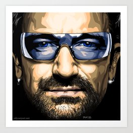 Bono Art Print