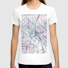 Dallas map T-shirt