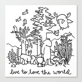 live to love the world Canvas Print