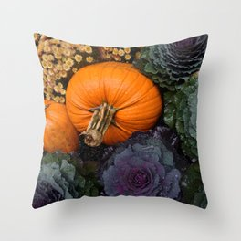 Fall Flora Throw Pillow