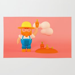 Farmer & carrots Rug