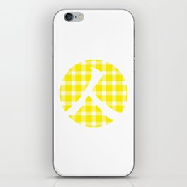 Plaid Canary Yellow Person iPhone Skin