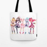 madoka Tote Bags featuring Madoka by sarlisart