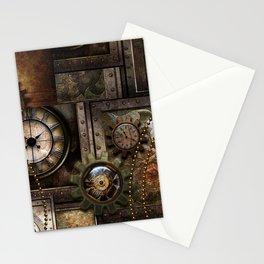Steampunk, wonderful clockwork with gears Stationery Cards