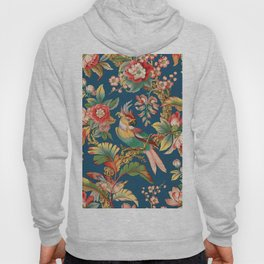 Antique French Chinoiserie in Blue Hoody