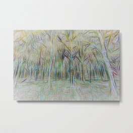Forest Abstract Art Metal Print