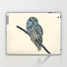 Barred Owl (beige) Laptop & iPad Skin