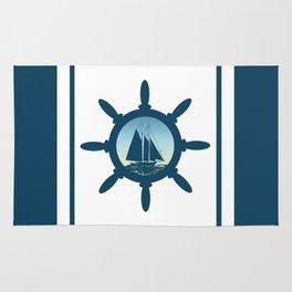 Sailing scene Rug