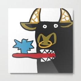 Funny Bull  Metal Print
