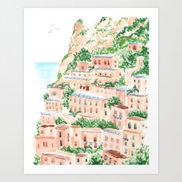 An Italian Shore Art Print