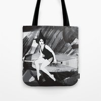 witch Tote Bags featuring Witch by Inbeeswax