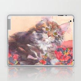 Kitten's Bed of Roses Laptop & iPad Skin