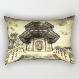 The Pagoda Battersea Park London Vintage Rectangular Pillow