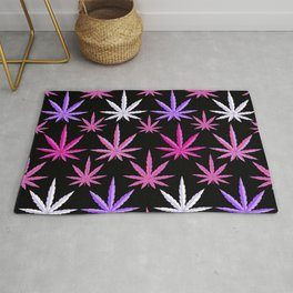 Weed Garden Pink Purple Rug