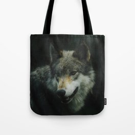 Gray Wolf (Color) Tote Bag