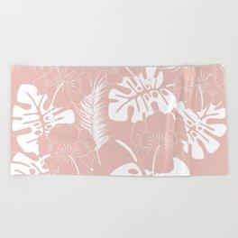 Tropical pattern 020 Beach Towel