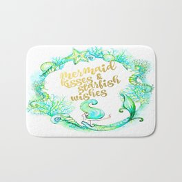 Mermaid Wishes Bath Mat
