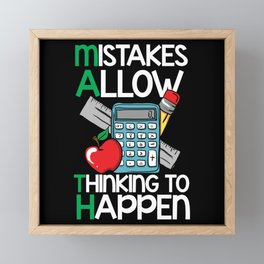 Math - Mistakes Allow Thinking to Happen Framed Mini Art Print