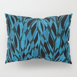 Teal Jungle Leaves Pillow Sham