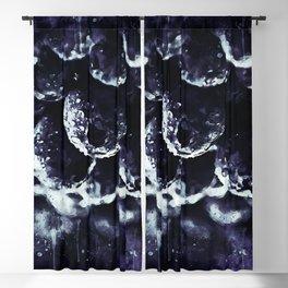 blueberry blue berries pattern splatter watercolor deep purple Blackout Curtain