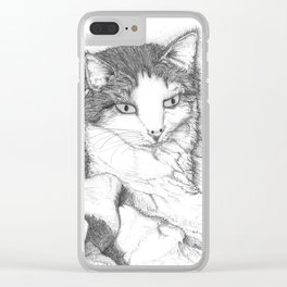 House Cat Clear iPhone Case