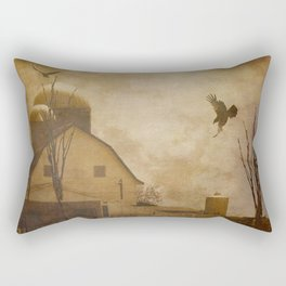 Rustic Country Barn Bird Modern Farmhouse Modern Cottage Art A574 Rectangular Pillow