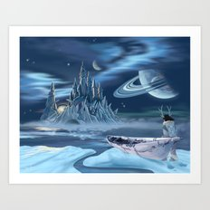 Ice Castle Art Print