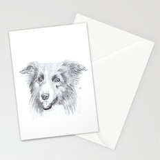 Border Collie Sketch Stationery Cards