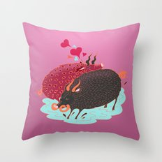 Love Beasts Throw Pillow