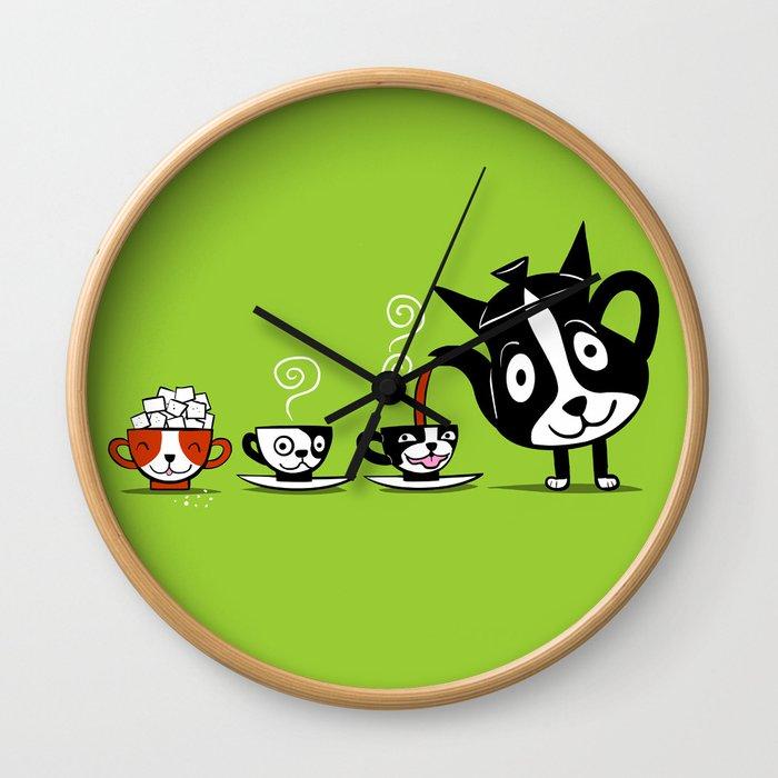 Boston Tea Partyware Wall Clock