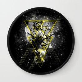Cosmic Tiger B&W Wall Clock