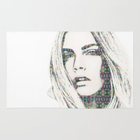 cara Area & Throw Rugs featuring Cara Delevigne by fashionistheonlycure