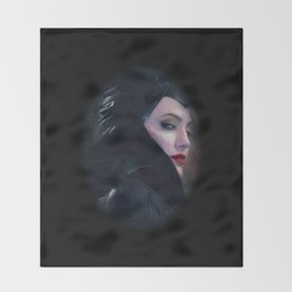 Maleficent in Oil / Sleeping Beauty Throw Blanket