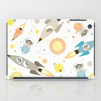 planet of the apes iPad Cases featuring Apes in space by Heleen van Buul