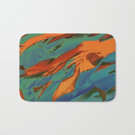 Green, Orange and Blue Abstract Bath Mat