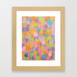 Floating In A Festival Of Candy Colored Balloons Or Swimming In A Sea Of Psychedelic Jellyfish Framed Art Print