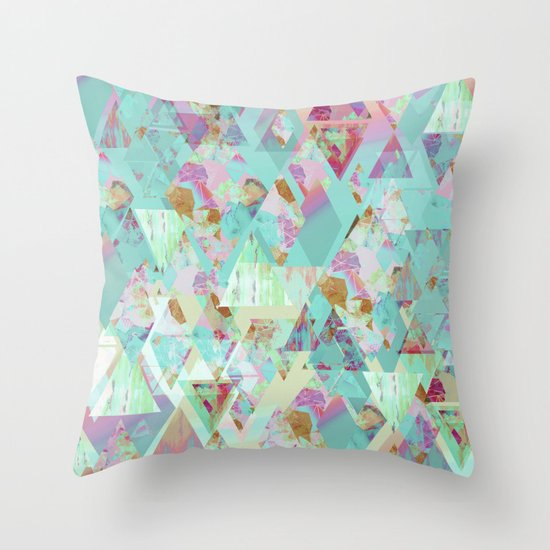 Candy Geometric  Throw Pillow