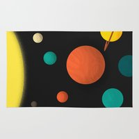 solar system Area & Throw Rugs featuring Solar system by Sarajea