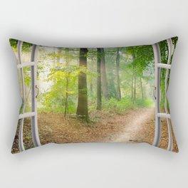 Window Tapestries Style Rectangular Pillow