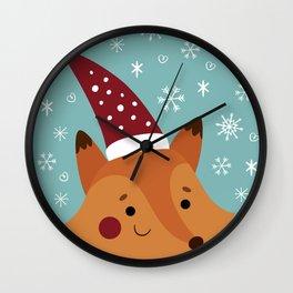 Xmas fox Wall Clock